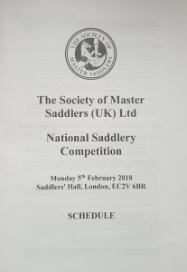 National Saddlery Competition